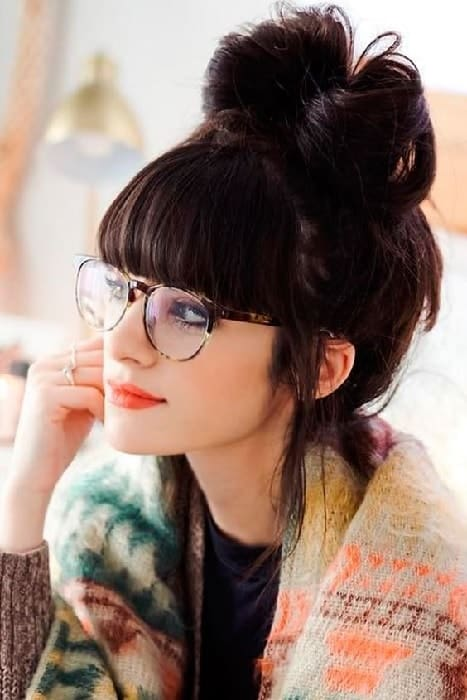 Bangs with Glasses hairstyles for Women