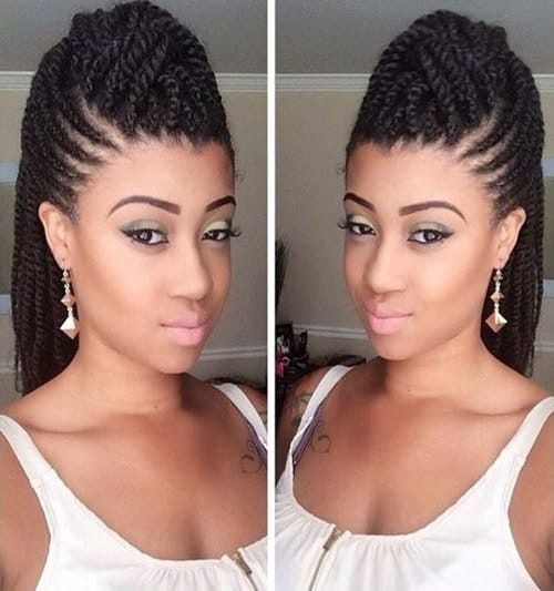 crown braids for black women