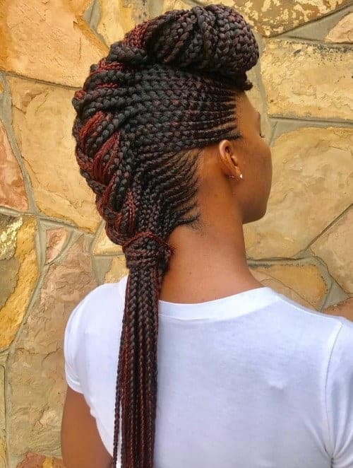 mohawk crown braid for black hair