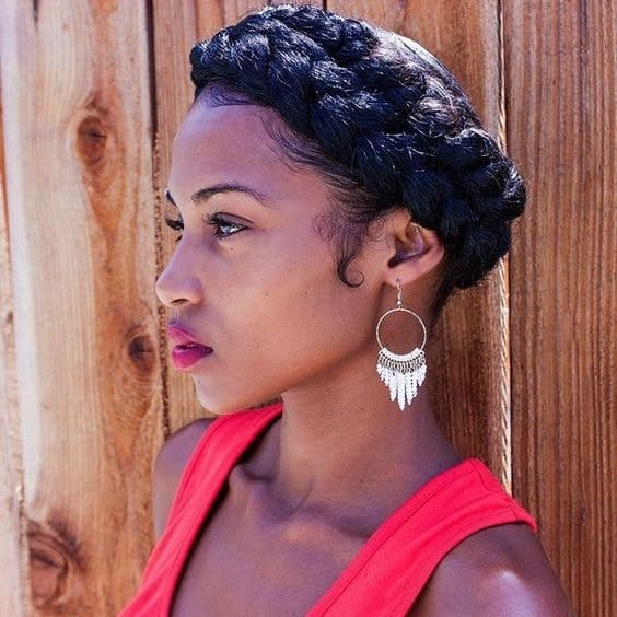 Double Crown Braid for Black Women