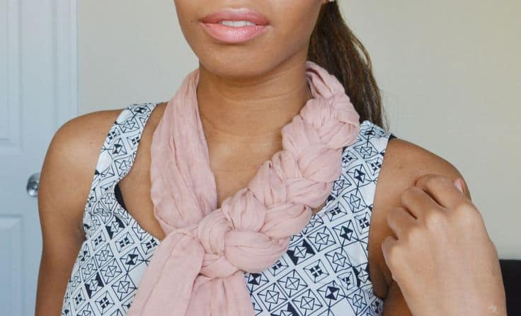braided scarf for women