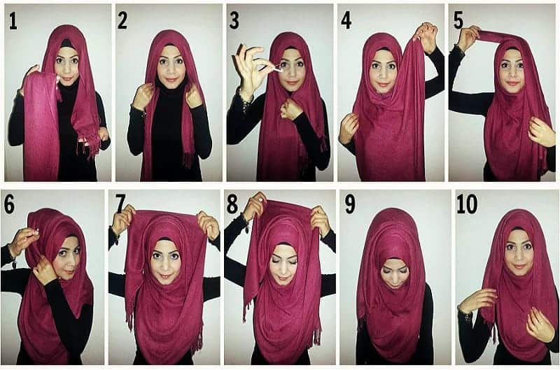 rounded arabian style scarf for women