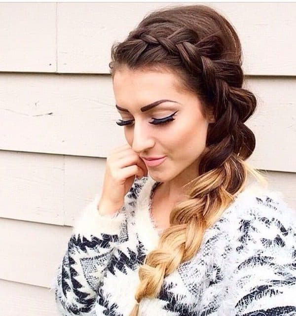 side braids for medium length hair
