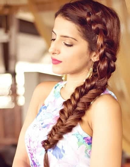 fish tail braid for medium hair