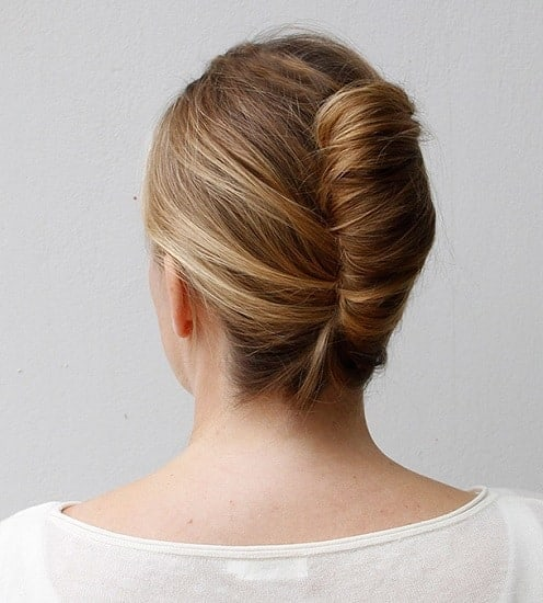 Medium Length French Twist Bun
