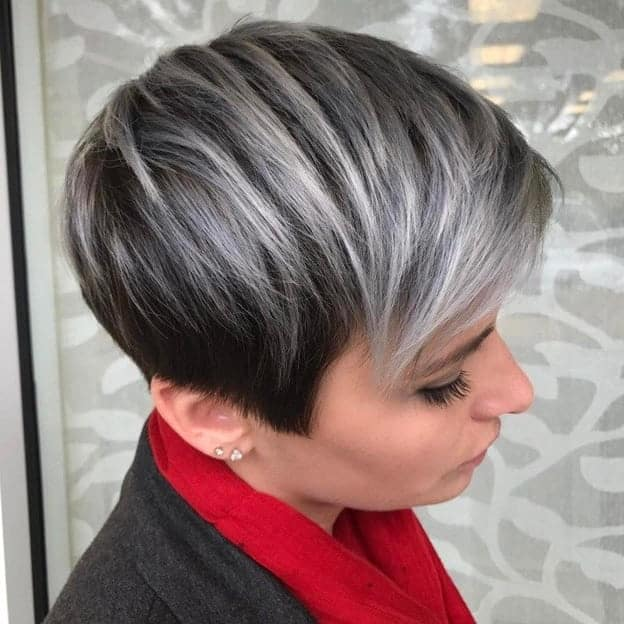 ombre pixie cut with side bangs