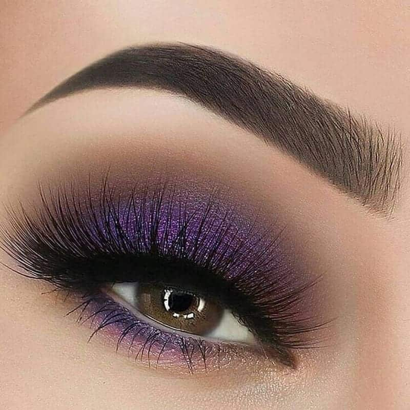 purple eyeshadow for brown eyed women