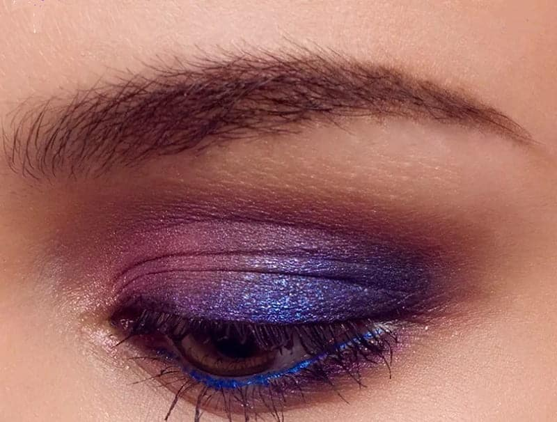 three shades of purple eyeshadow for women