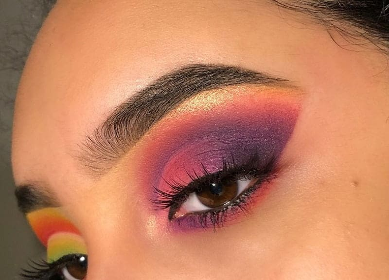 purple and gold eyeshadow for brown eyes