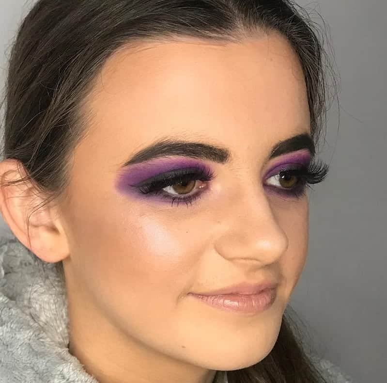 dusky purple eyeshadow for brown eyes