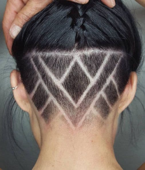 shaved head design for women