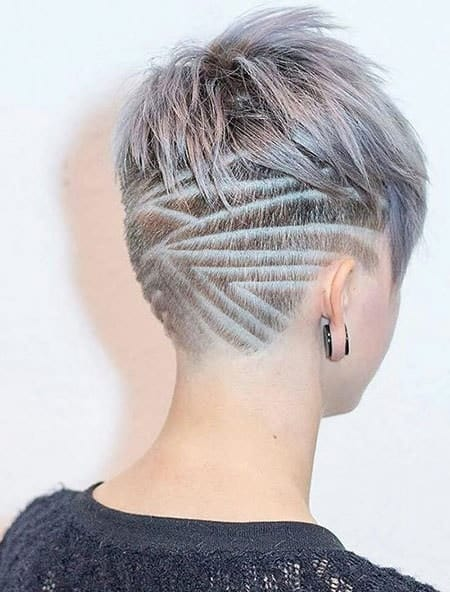 shaved head design on short hair