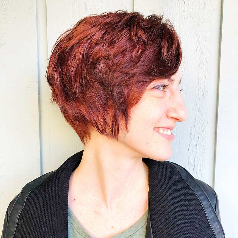 Asymmetrical Pixie Cut for Thick Hair