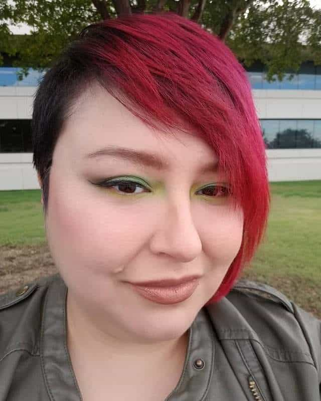 asymmetrical pixie for red short hair