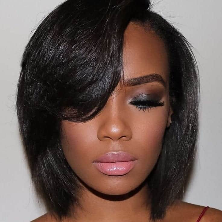 black women's bob with bangs