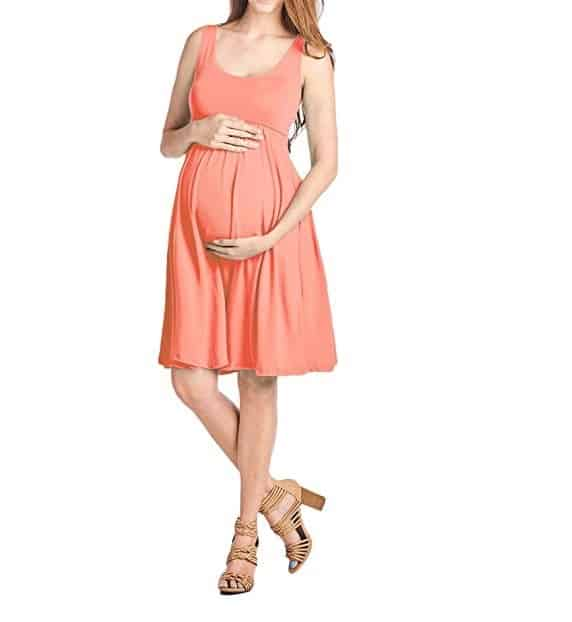 sleeveless maternity swing dresss for women