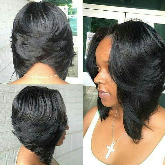 african american feathered bob hairstyles