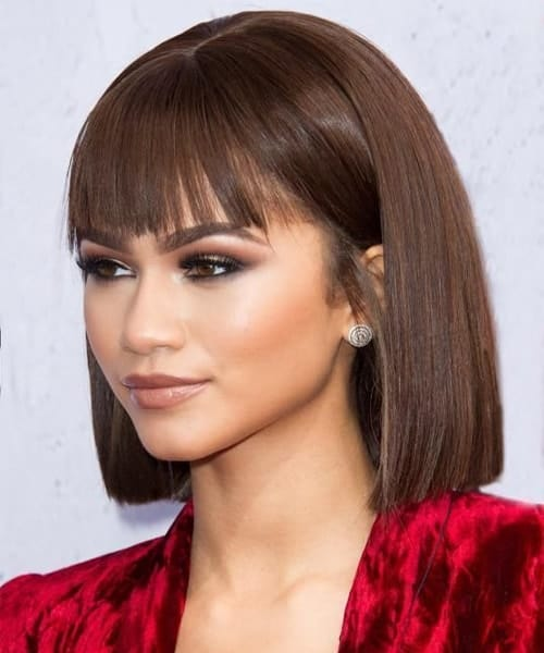 Blunt Bob with Bangs for Black Women