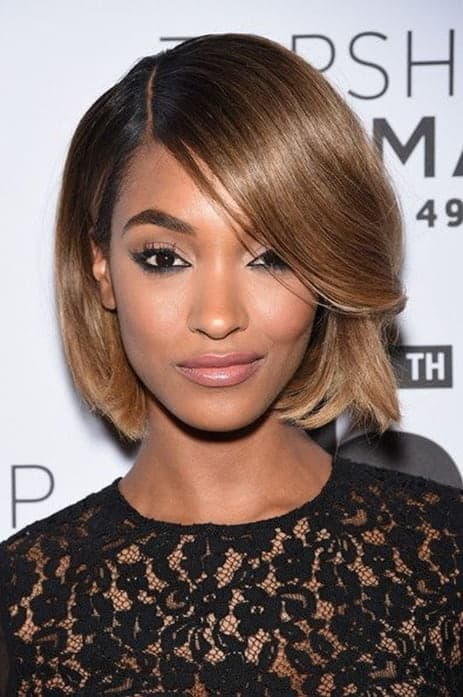 side swept bangs style for black ladies