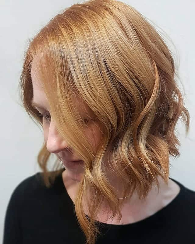Curly Concave Bob for women