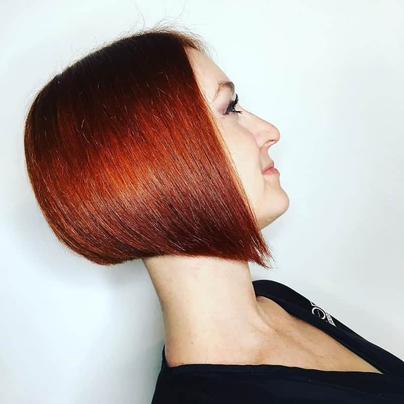 red concave bob for women