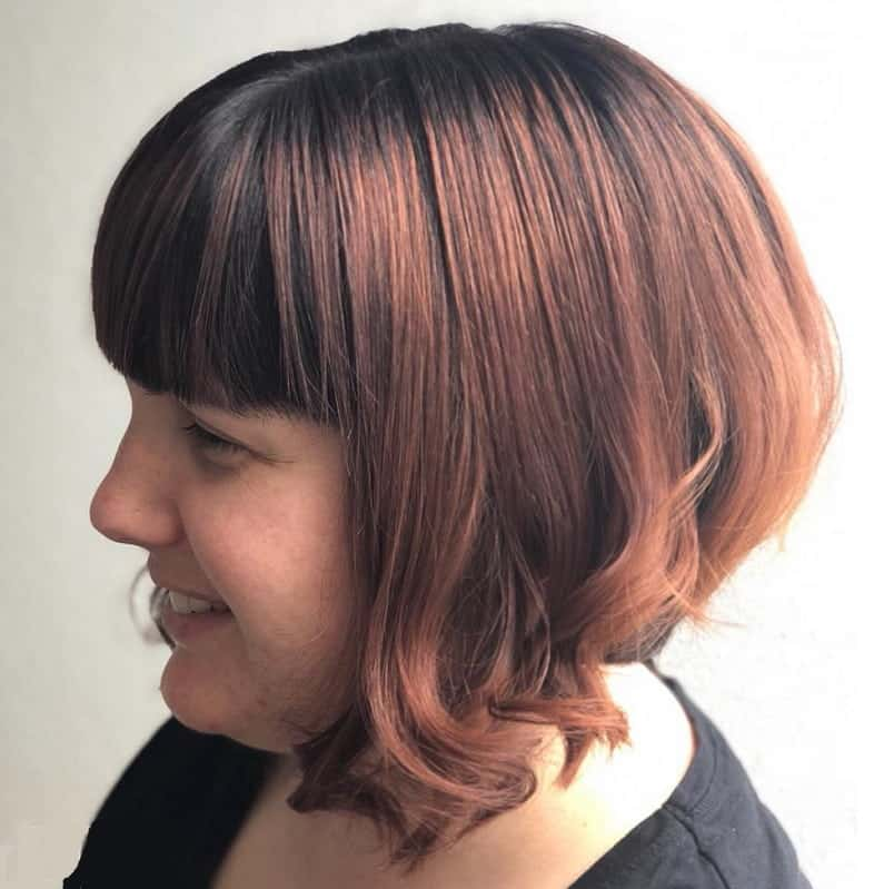 concave bob with soft curves