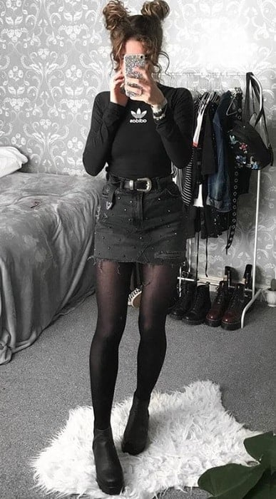 teen outfit ideas with all black theme
