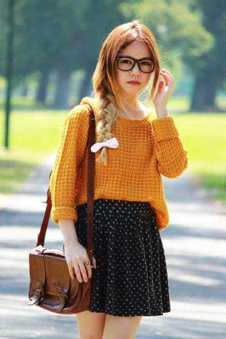 polka dotted outfit for teenage girl