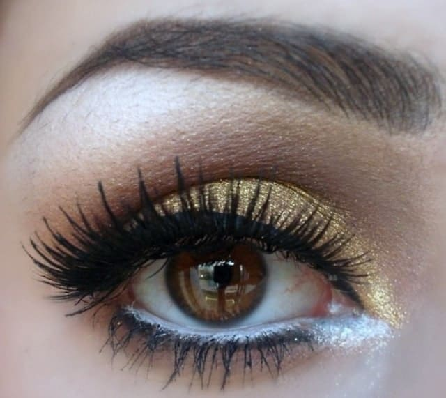 best gold eye makeup for brown eyes