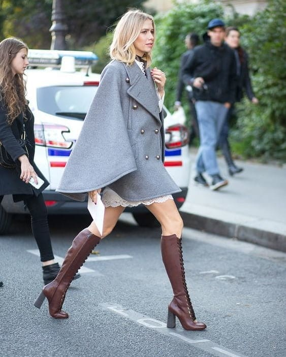 cute outfit with knee high boots
