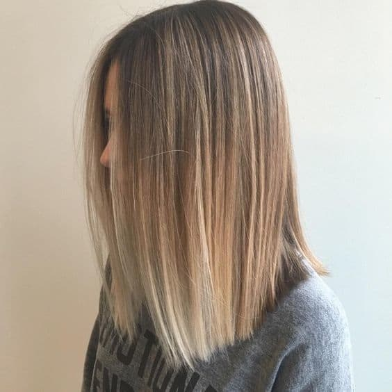 Blonde Ombre Lob