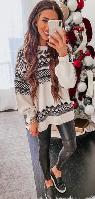 christmas sweaters as school outfits for winters