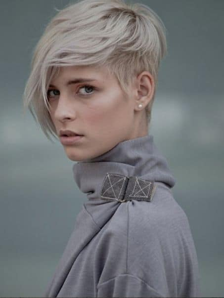 Pixie with Long Bangs for thin hair