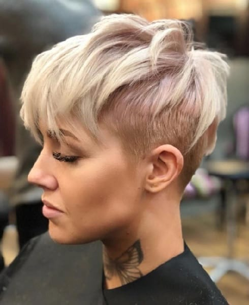 pixie with undercut for women