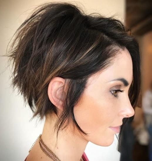 long messy pixie for thin hair