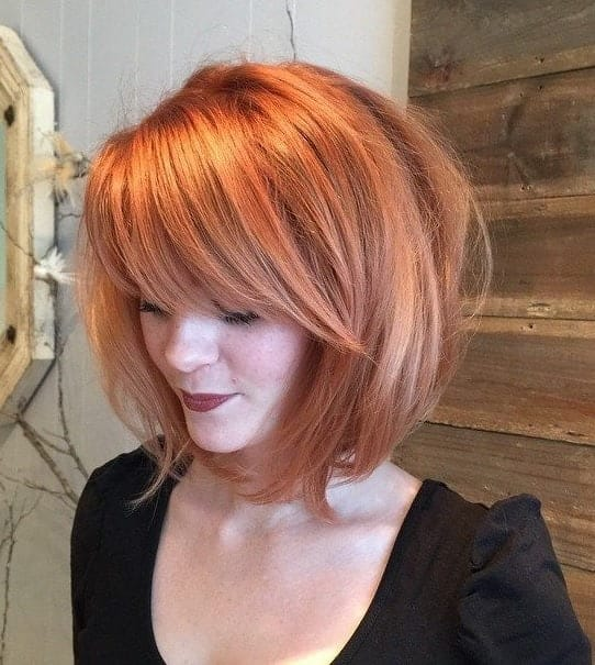 thick rounded layered bob