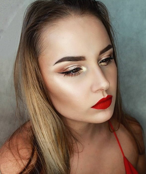 best makeup looks for red dress
