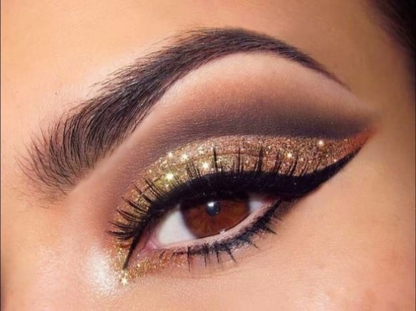black and gold eye makeup ideas