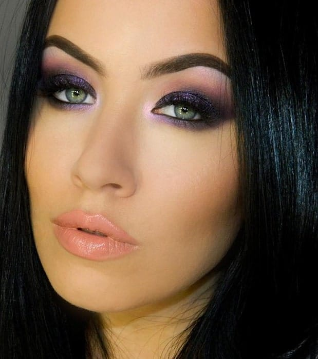smokey black eye makeup ideas for women