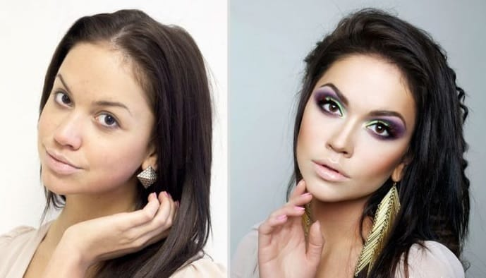 dramatic makeup transformation
