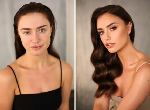 best makeup transformation of women