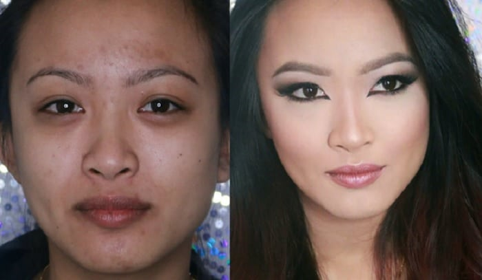 dramatic makeup transformation looks