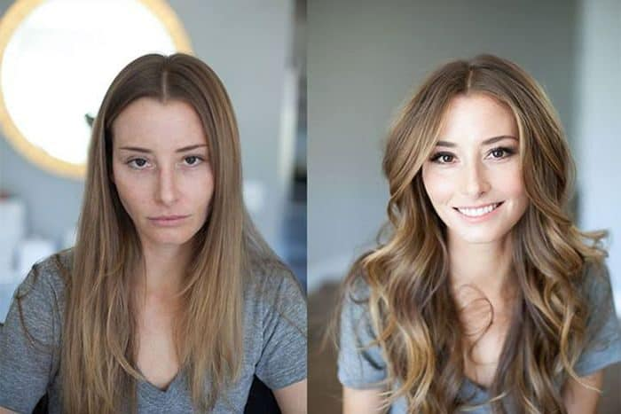 women with amazing makeup transformation