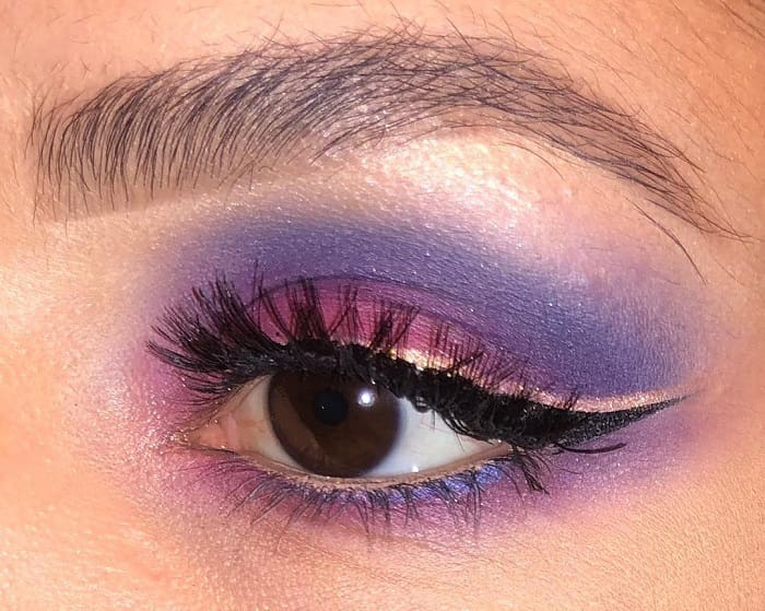 Step out of your comfort zone and play with contrasting colors for eye makeup of dark brown eyes.