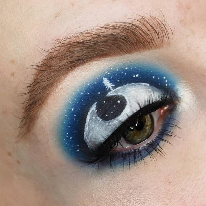 Galaxy Eye Makeup Art