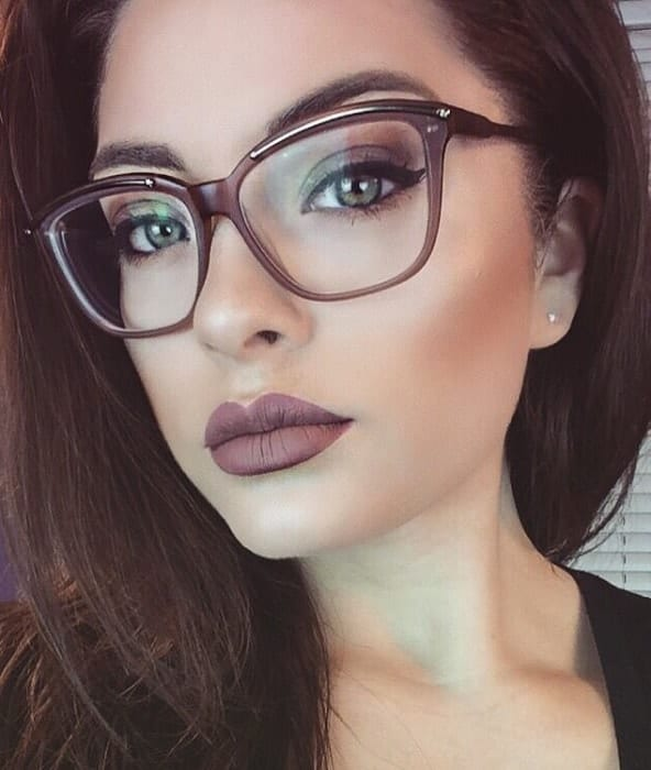 Cat Eye makeup for women with glasses