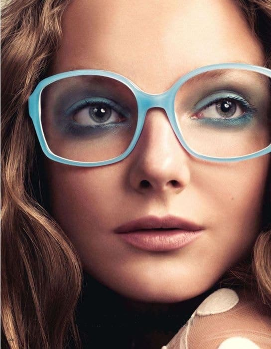 blue eyeshadow for women with glasses