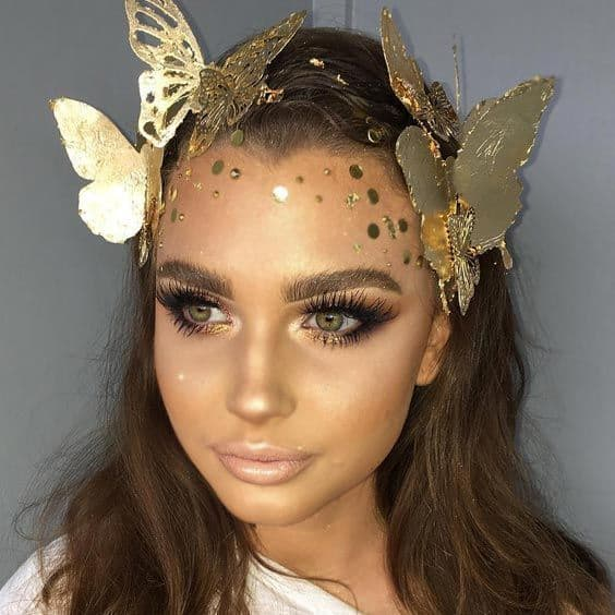 golden fairy look for women