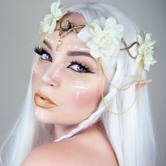 white elf fairy look for women