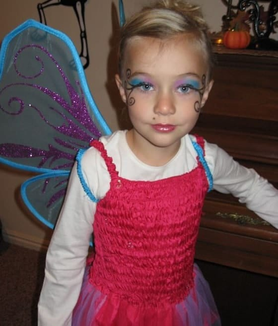 cute fairy makeup look for little girls
